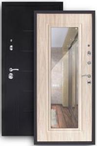 Входная дверь Сити беленый дуб с зеркалом