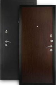 Входная дверь МД-01 серебро/венге