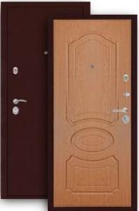 Входная дверь МД-09 медь/дуб светлый