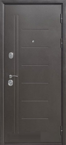 Входная дверь Троя 100 серебро/листв. беж
