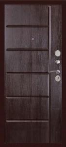 Входная дверь С-503 венге тисненый