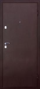 Входная дверь Эконом Волна-2 медь/дуб мореный