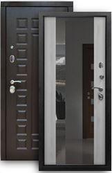 Входная дверь Сенатор 2К с зеркалом белая лиственница