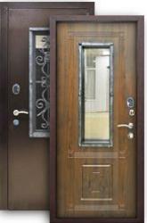 Входная дверь Плющ грецкий орех