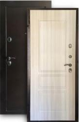 Входная дверь Евро сосна белая внутрь