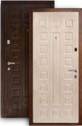Входная дверь Континент Люкс беленый дуб