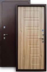 Входная дверь 2К медь/вяз барон