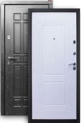 Входная дверь Стайл 2К платина/ампир бел.дуб