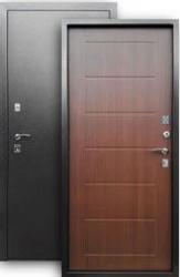 Входная дверь 2К серебро/листв. кофе