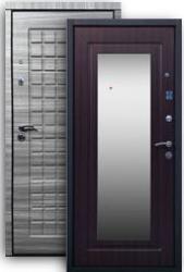 Входная дверь РОССА Стайл 2К с зеркалом grey/венге
