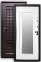 Входная дверь РОССА Стайл 2К с зеркалом венге/бел.дуб