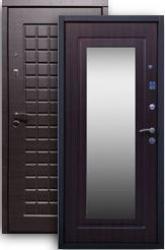 Входная дверь Стайл 2К с зеркалом венге/венге