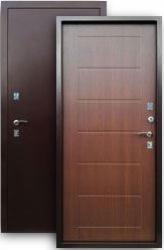 Входная дверь 2К медь/листв. кофе