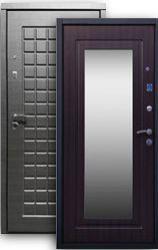 Входная дверь Стайл 2К с зеркалом платина/венге