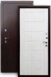 Входная дверь 2К медь/листв. беж