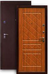 Входная дверь 2К медь/дуб золотистый
