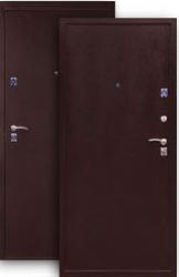 Входная дверь 2К медь, мет/мет