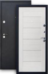 Входная дверь ХИТ-6 шелк/беленый дуб