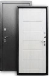 Входная дверь 2К серебро/листв. беж
