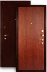 Входная дверь МД-01 медь/итальянский орех