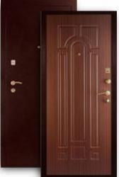 Входная дверь МД-04 медь/орех тисненый