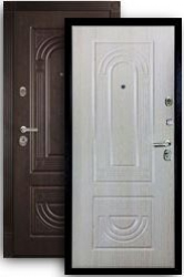 Входная дверь МД-32 беленый дуб