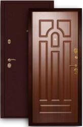 Входная дверь МД-09 медь/орех тисненый