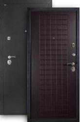 Входная дверь МД-26 серебро/венге