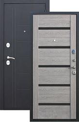 Входная дверь Троя 100 серебро/дым. дуб