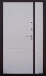 Двустворчатая дверь 2К DBL медь/беленый дуб