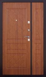 Двустворчатая дверь ЧенФенг 2К DBL медь/дуб золотистый