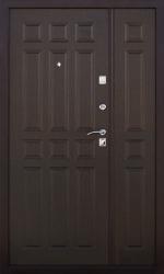Двустворчатая дверь 2К DBL медь/венге
