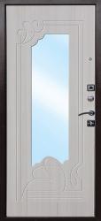 Стальная дверь Ампир белый ясень