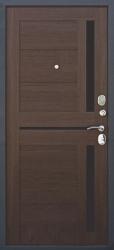 Входная дверь Гарда 75 муар/листв. шоколад