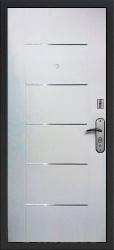 Входная дверь Квадро NoKey белый ясень